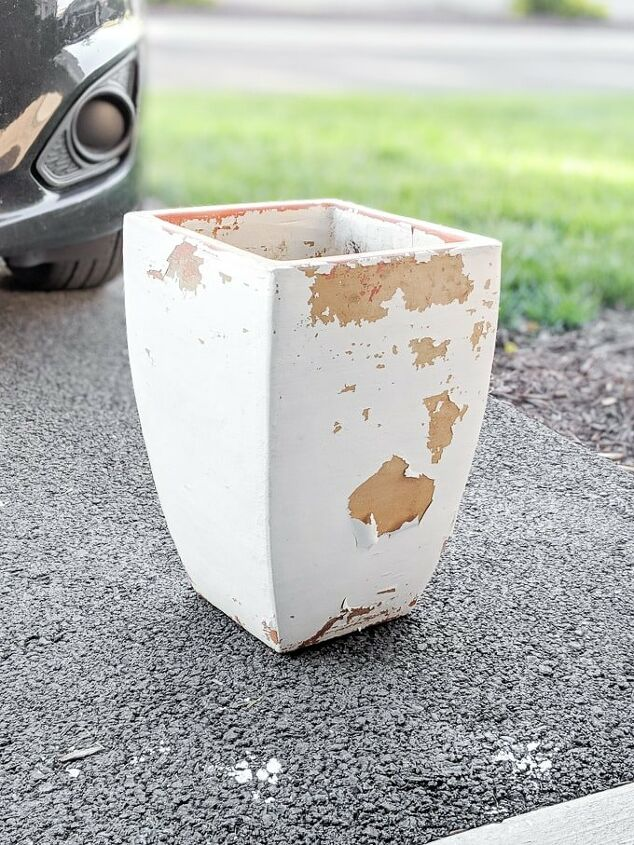 removing old paint from terracotta pots and repainting