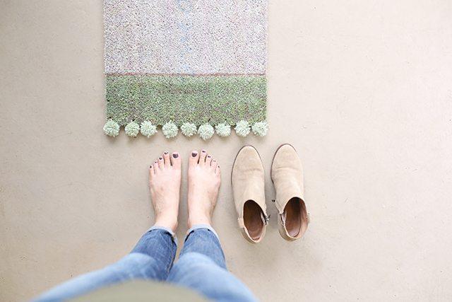pompom door mat