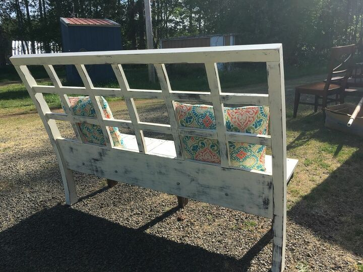 bench from a lonely headboard