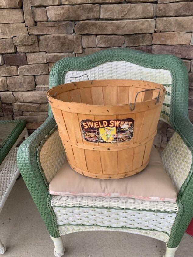 q what do i do with a peach basket