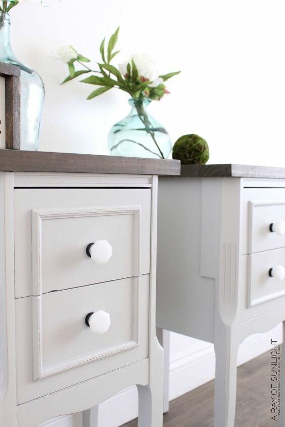 turn a desk into nightstands