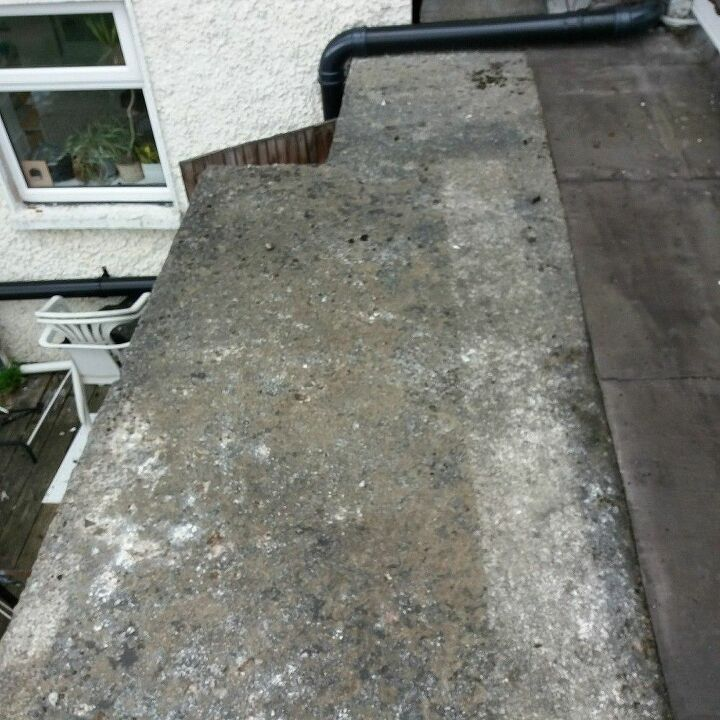 q how to put epdm on concrete flat roof