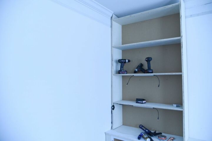 how to do built in book shelves