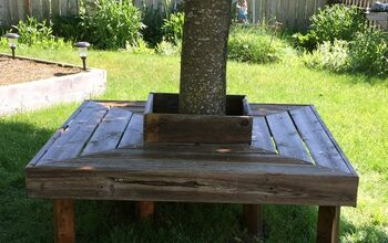 Reclaimed Wood Tree Bench