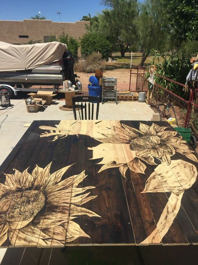stained art for my yard