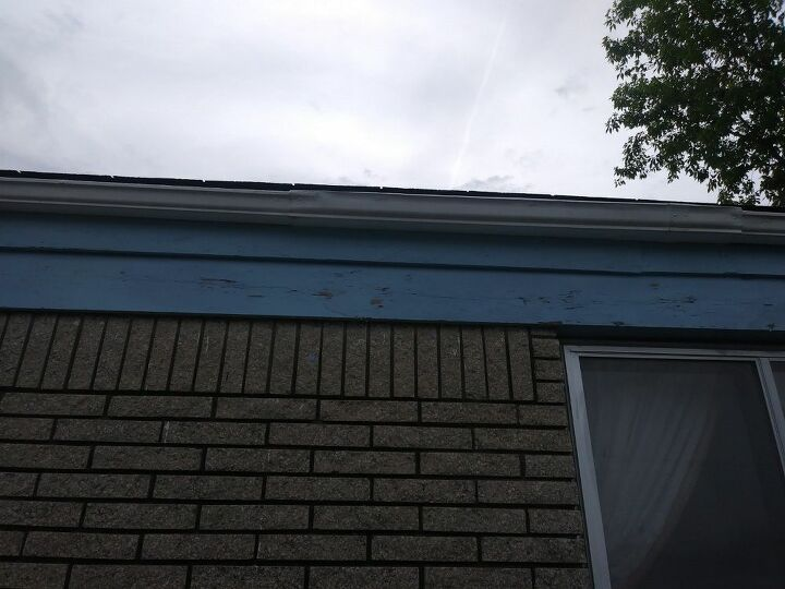 q what can i do for the garage door quit peeling