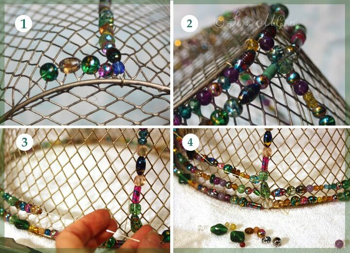 easy beaded basket lampshade