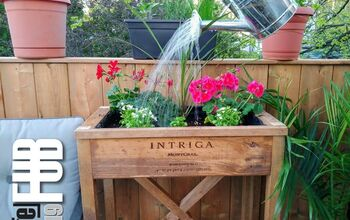 From Wine Box to Beautiful Planter