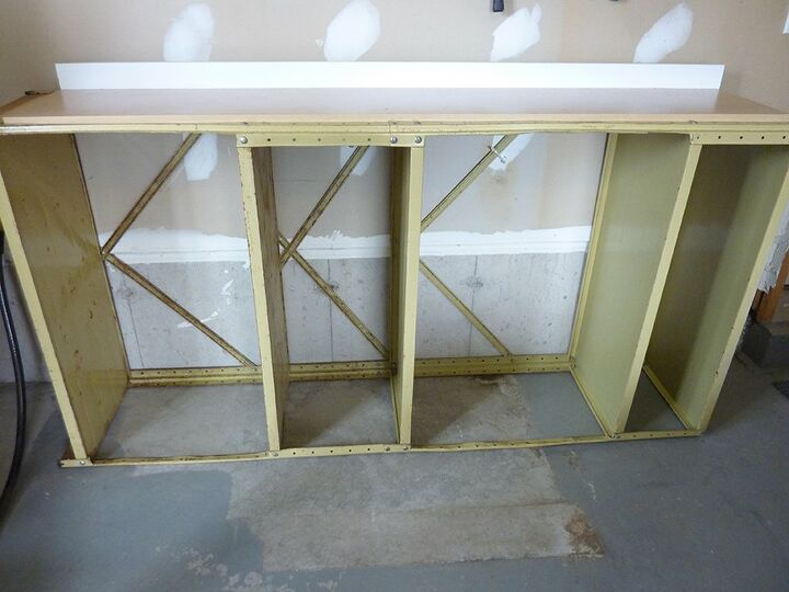 Cabinet door on top