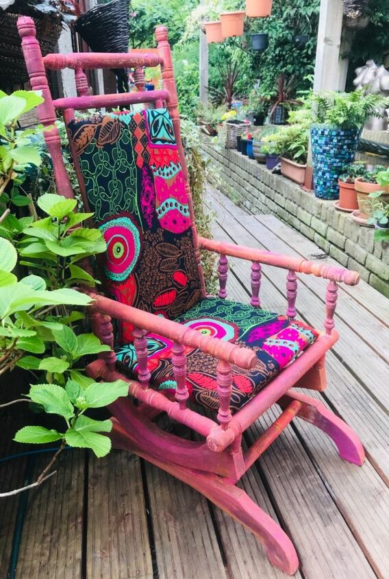 Rocking chair makeover with unicorn spit