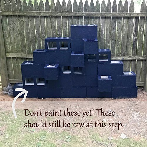 diy vertical cinder block planters sculpture