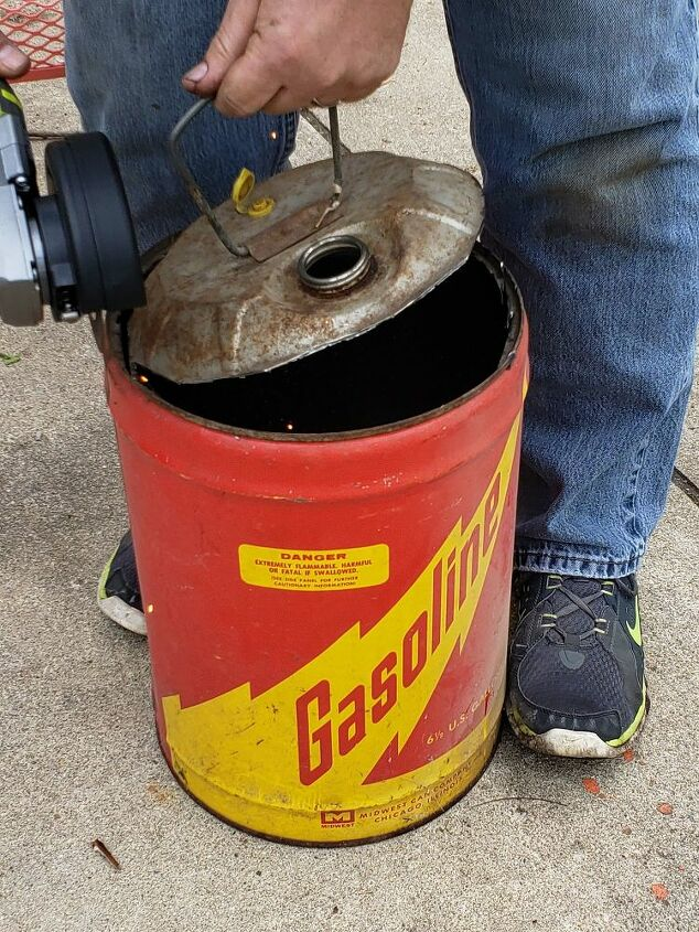 diy vintage gas can planter