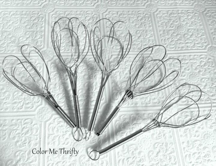 how to make wire whisks into tulips