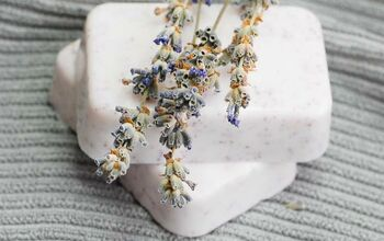 Homemade Soap With Essential Oils - Lavender, Geranium, and Patchouli