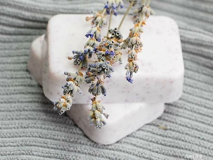 homemade soap with essential oils lavender geranium and patchouli
