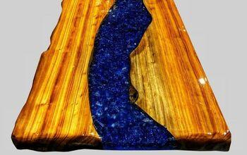 DIY Epoxy Bar Top Using Reclaimed Wood That GLOWS