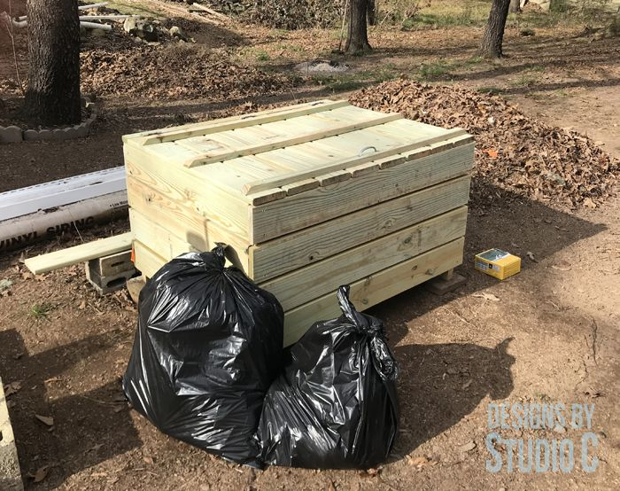 how to build a large bin for trash
