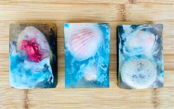 Summer Beach Soap Recipe With Seashell Embeds