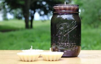 DIY Bug Repellent Floating Candles With Essential Oils