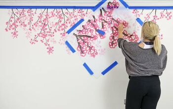 How To Stencil a Weeping Cherry Accent Wall