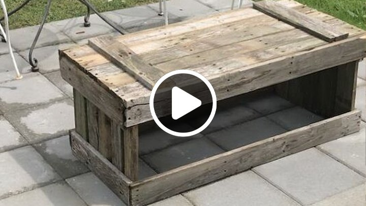 s most inspiring diy videos, DIY No Cost Pallet Coffee Table for My Patio