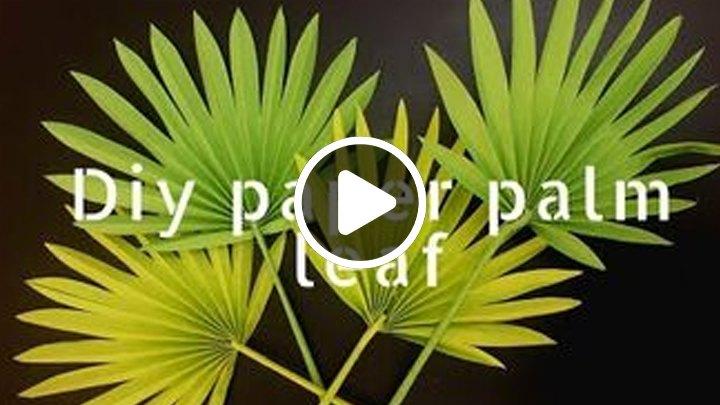 s most inspiring diy videos, DIY Paper Palm Leaf