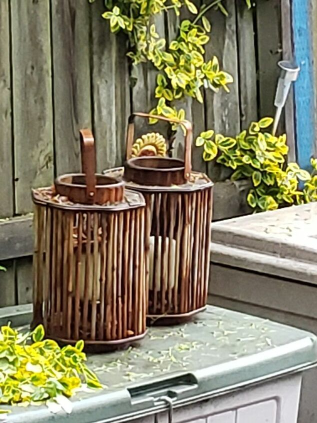 q bamboo candle holders