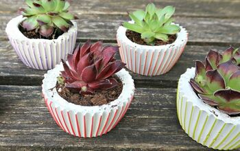 DIY Concrete Planters: Cute Pots Shaped Like Cupcakes