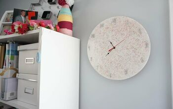 How to Make a SPARKLY Resin Clock!