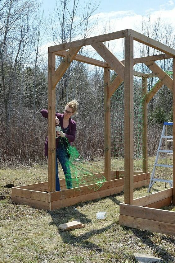 how to build a diy vegetable arbor