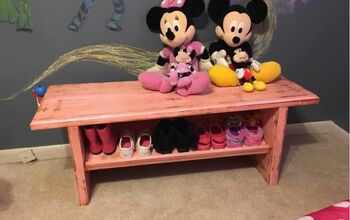 Plain Bench to Pretty Pink Decor Bench