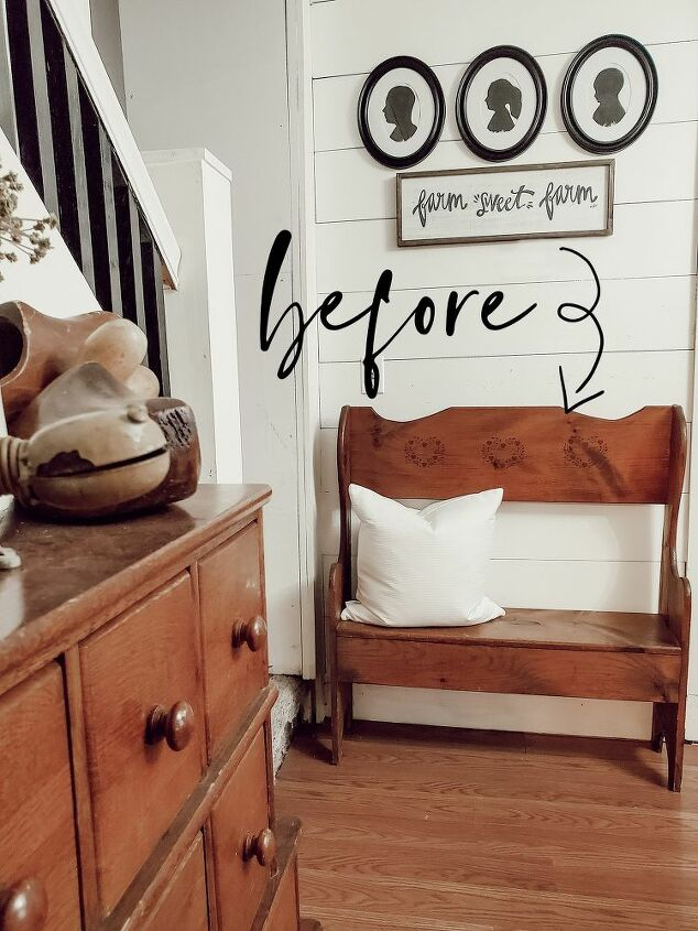 country bench makeover