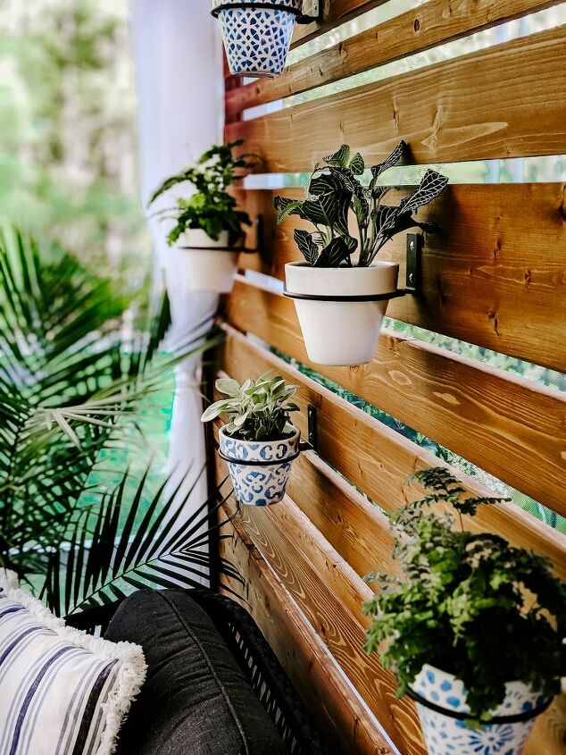 diy planter privacy screen