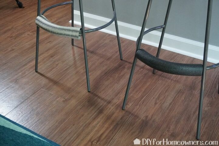 how to add comfort to a bar stool foot rest