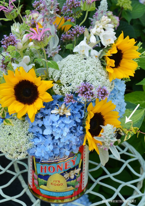 upcycled can flower arrangement