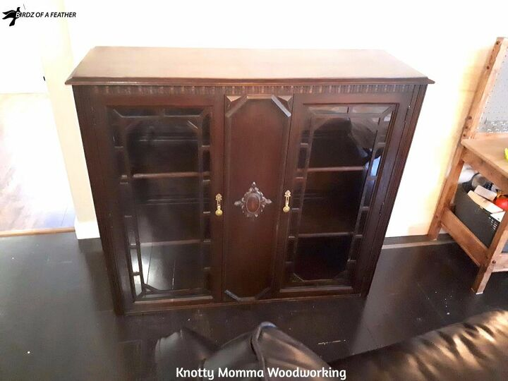 hutch to china cabinet makeover