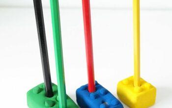 Lego Pencil Holders - Budget Friendly Rainy Day Activity!