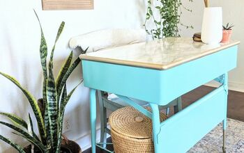 Vintage Metal Desk Makeover | Spray Painted Furniture