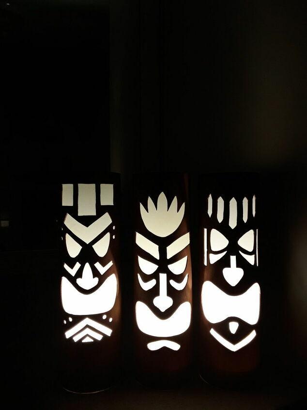 how to make tiki mask lights for your patio