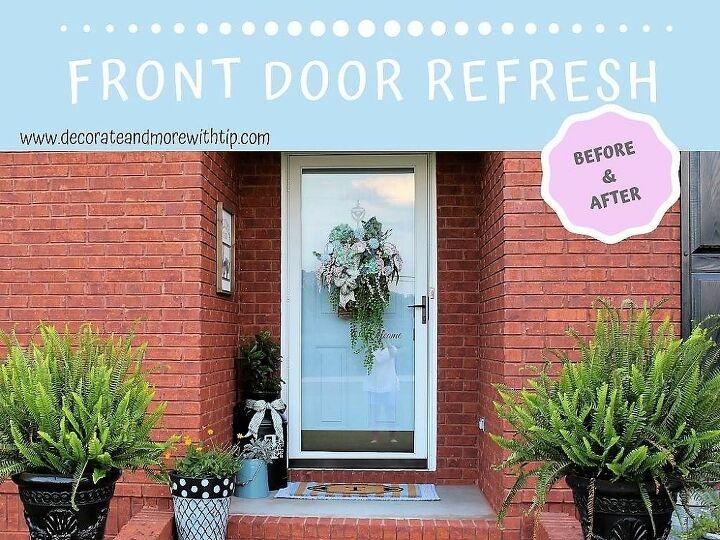 front door refresh before after
