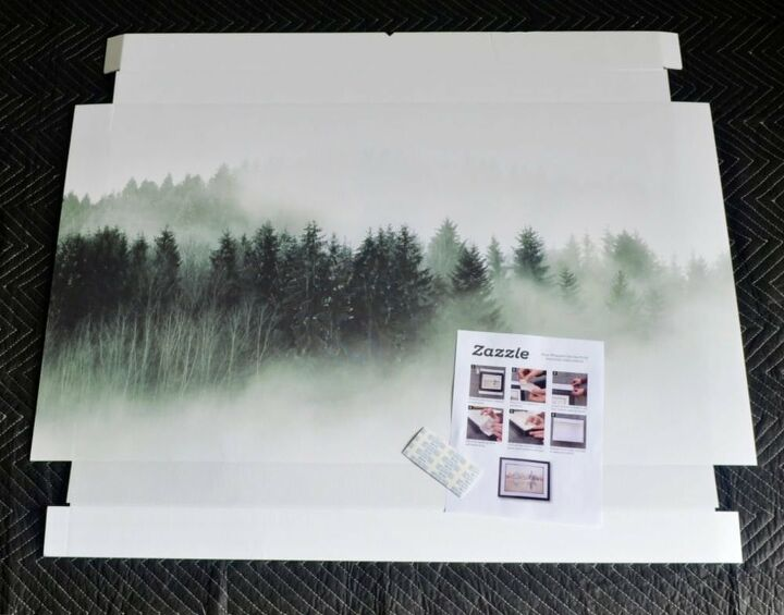 faux canvas artwork in 5 minutes