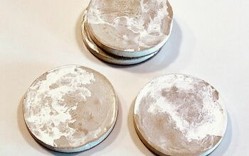 Cork Bottomed Cement Coasters