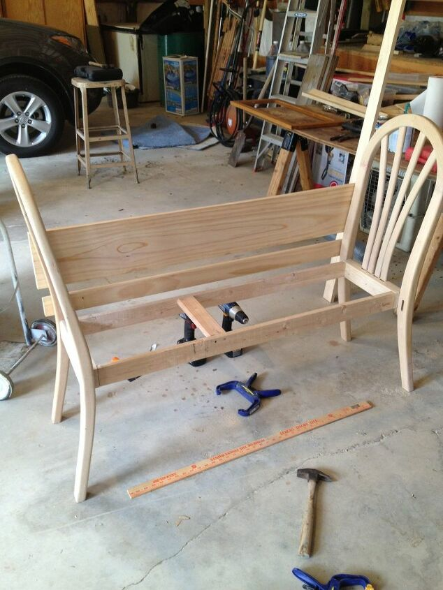Working on the seat