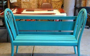 DIY Garden Bench Using Chair Backs