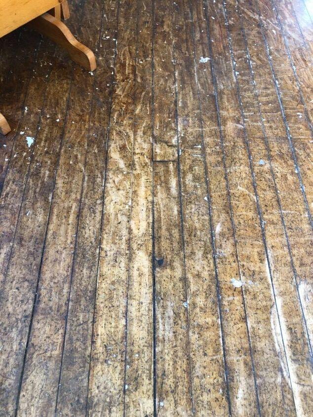 q remove rusted broken off staples from a hardwood floor