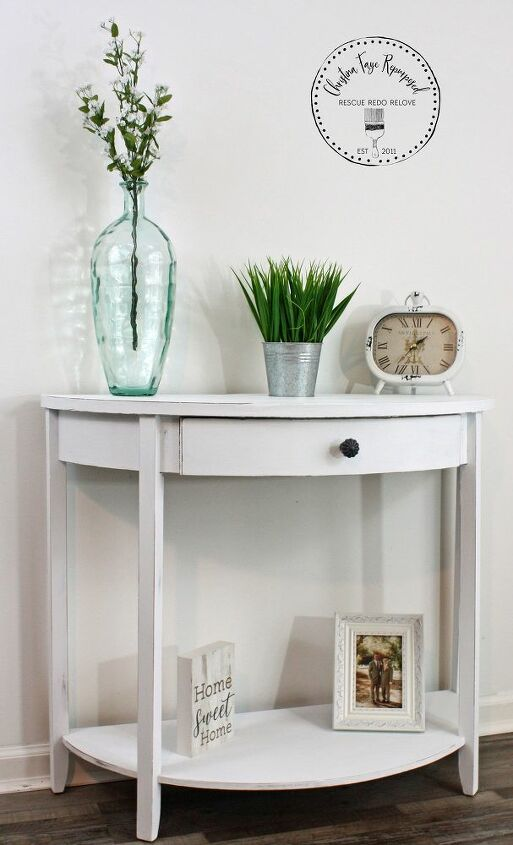 thrift store table diy makeover with only paint
