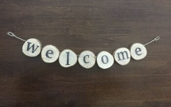 Welcome Door Sign From Wood Slices