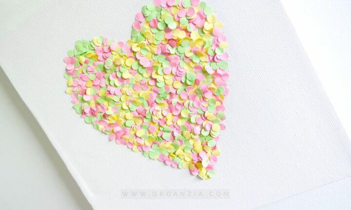 diy confetti wall art picture