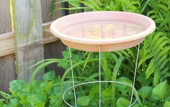 Simple Tomato Cage Bird Bath