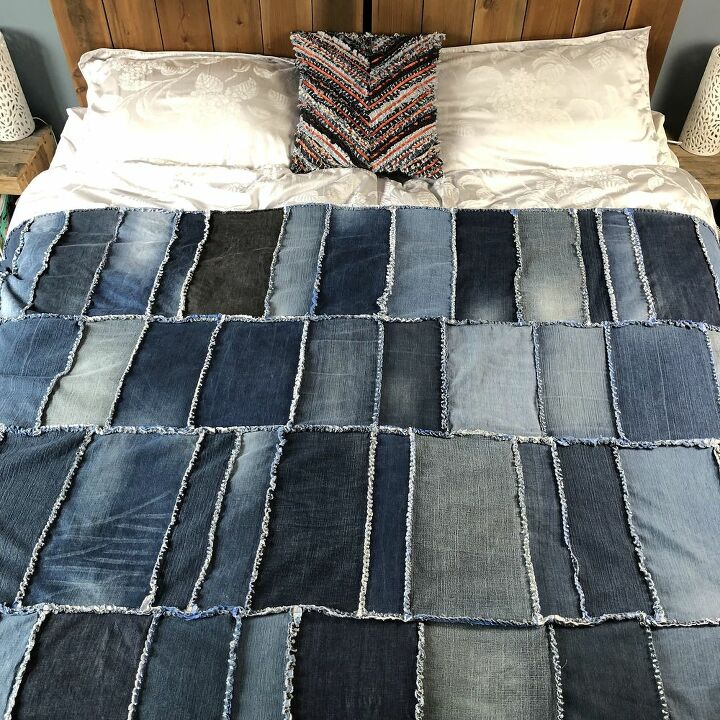 quick and easy denim rag quilt